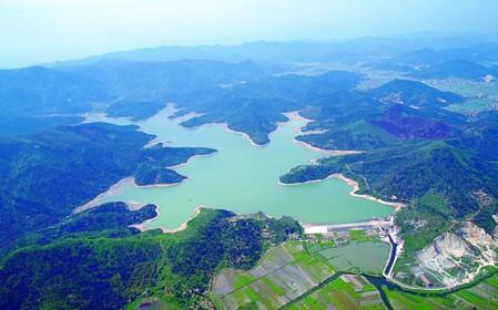 上林湖鸟瞰图