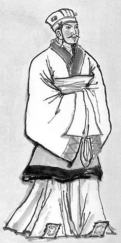 孙膑手绘黑白