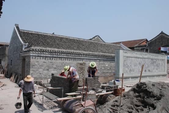 江北区德记巷古建筑立面维修及环境整治工程进展顺利